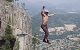 World Record Free Solo Slacklining Insane