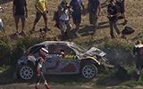 Consani Crash At ERC Rally Zlin