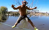 Slacklining Over An Alligator Pool