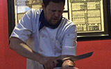 Andy Gross Splitman Japanese Chef Arm Cut Prank