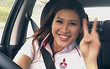 Sales Girl Leona Chin Drifts Customers In A Pickup Truck