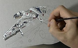 Marcello Barenghi - Millennium Falcon Drawing