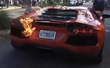 Parking Valet Causes Fire Damage To Lamborghini Aventador