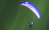 Horacio Llorens - Breathtaking Paraglide Flight Through Aurora Borealis