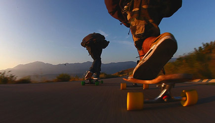 Downhill Longboarding by Moonlight