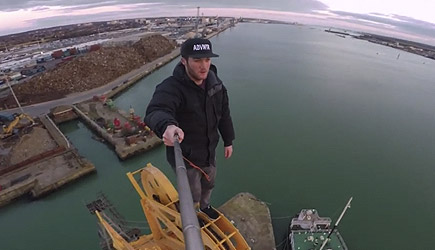 James Kingston - Climbing An Old Abandoned Crane