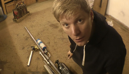 Colin Furze - Making A Thermite Launcher (2)