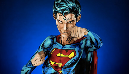 Kay Pike Superman Bodypaint Time Lapse