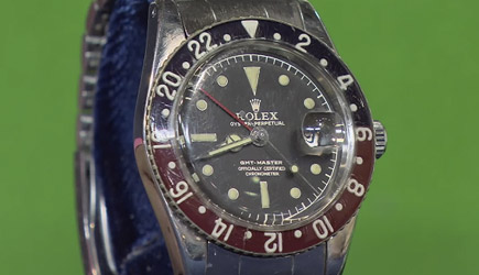 Antiques Roadshow - 1960 GMT Master Model Rolex With Box & Papers