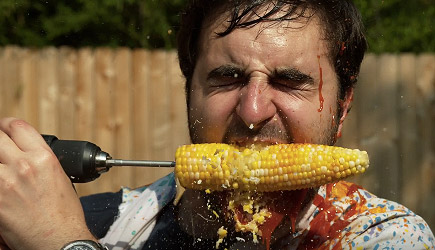 The Slow Mo Guys - Corn Drill in Slow Motion