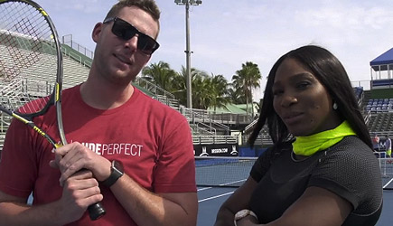 Dude Perfect - Tennis Trick Shots ft. Serena Williams