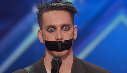 America's Got Talent 2016 - Tape Face