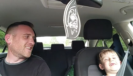Dad And Son Sing Frank Sinatra In The Car