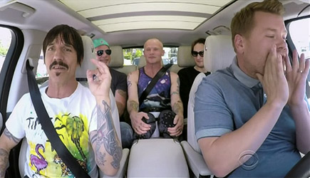 James Corden Carpool Karaoe With The Red Hot Chili Peppers