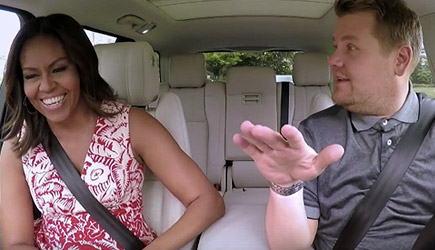 James Corden Carpool Karaoke With First Lady Michelle Obama