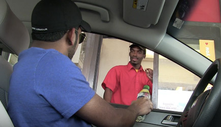 Drive Thru Lemon Through Bottle Prank (2)