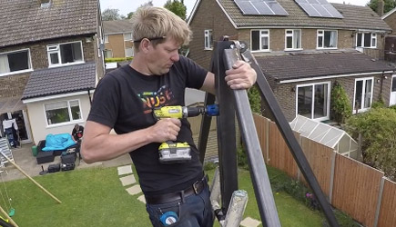 Colin Furze - Making a HUGE 360 Swing #2 Swing Arm