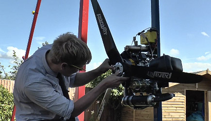 Colin Furze - 360 Swing + Paramotor = Awesome!