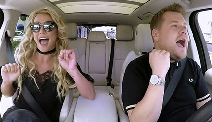 James Corden Carpool Karaoke With Britney Spears