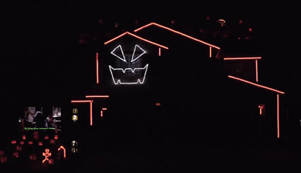 Halloween Light Show 2016 - Time Warp