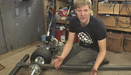 Colin Furze - Making A Motorised Go Cart With Simple Tools #1 - Chassis / Engine