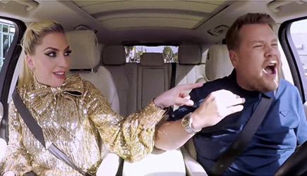 James Corden Carpool Karaoke With Lady Gaga