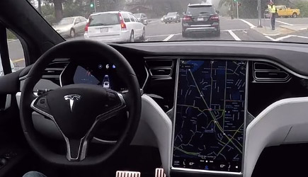 What A Tesla 'Sees' In Autopilot Mode