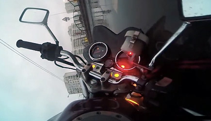 Biker Has A Bad Day