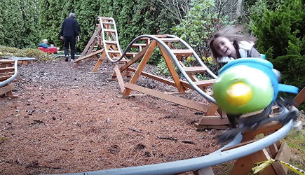 Dad Of The Year - Backyard Roller Coaster