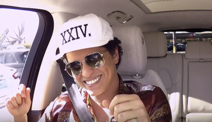 James Corden Carpool Karaoke With Bruno Mars