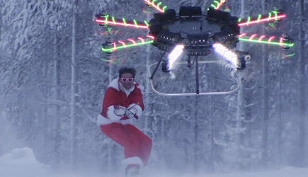 Casey Neistat - Human Flying Christmas Drone