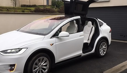 Tesla's Model X Easter Egg - Merry Christmas