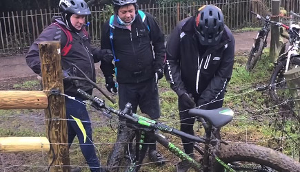 Fat Bike vs Electric Fence