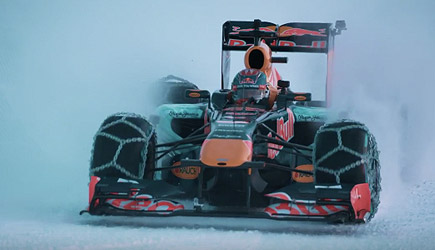 Max Verstappen Snow Play, Red Bull Racing