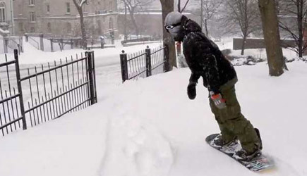 Urban Snowboarding Gone Wrong