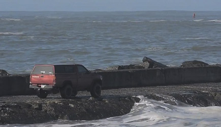 Nissan 4x4 vs Humboldt Bay's North Jetty