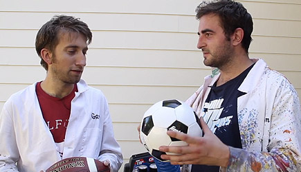 The Slow Mo Guys - Over-Inflating Footballs