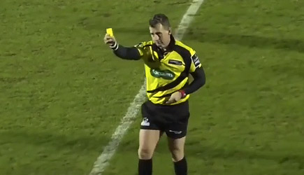 Nigel Owens Yellow Cards Ball Boy