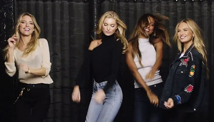Victoria's Secret Angels Lip Sync 'I Feel It Coming'