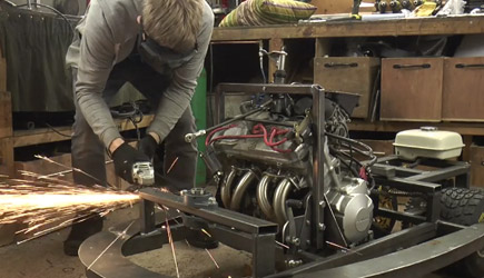 Colin Furze - BBC Top Gear Project #2 - 600cc 100HP Bumper Car