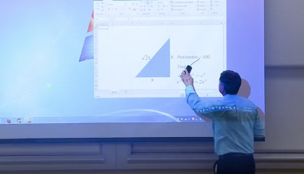 Math Professor Projector Screen Prank