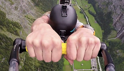 Paragliding Rope Swing Base Jump