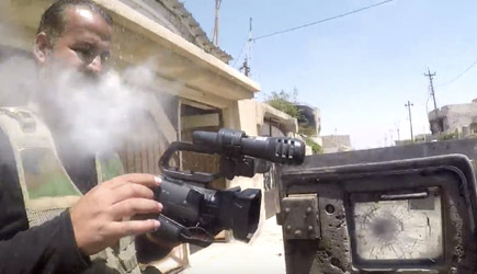 One Lucky Iraqi Journalist - Sniper GoPro Hit, Ammar, Alwaely