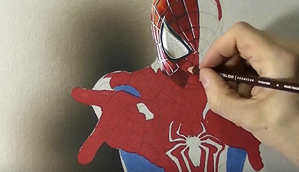 Marcello Barenghi - Spider-Man 3D Drawing