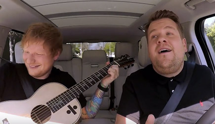 James Corden Carpool Karaoke With Ed Sheeran