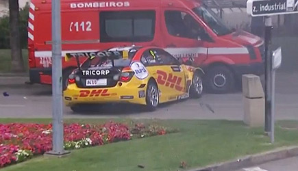 Tom Coronel WTCC Crash Vila Real