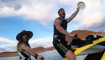 Frisbee Water Trick Shots With Brodie Smith