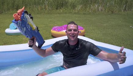 Dude Perfect - Nerf Slip And Slide Battle