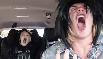 4 Year Old Carpool Karaoke With Dad