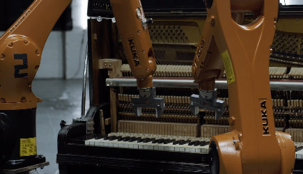 AUTOMATIC 4k - Robots Vs. Music - Nigel Stanford